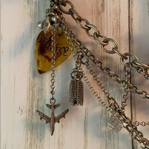 Lucky Brand Jewelry - Vintage Lucky Brand Punk Multilayer Charm Necklace